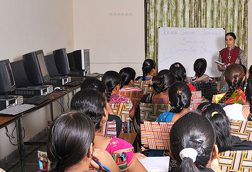 Vocational Computer training to women in unfavourable circumstances